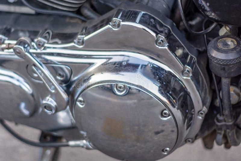 Zakończenie tylni część silnik motocykl fotografia stock