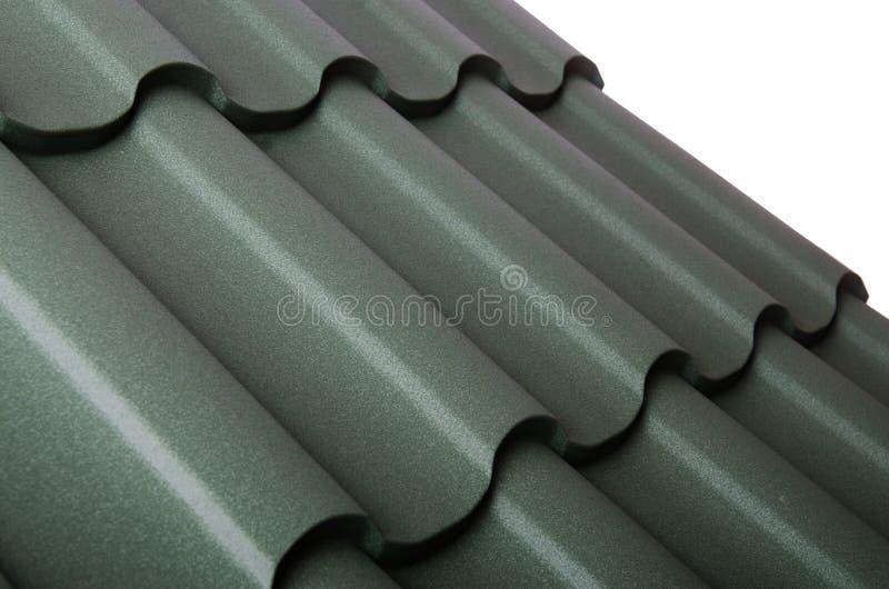 Zakończenie up metal dachowa płytka zdjęcie stock
