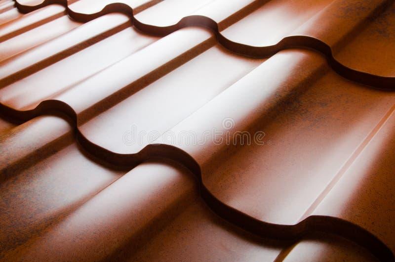 Zakończenie up metal dachowa płytka fotografia stock
