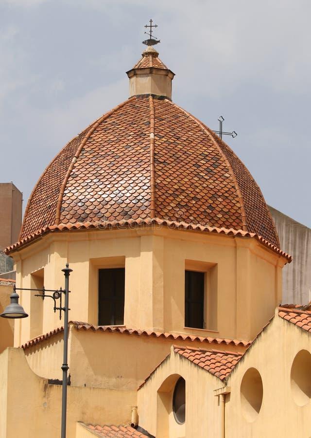Zakończenie up Pomarańczowy wierza katedra St Maria Asunta i St Cecilia obraz stock
