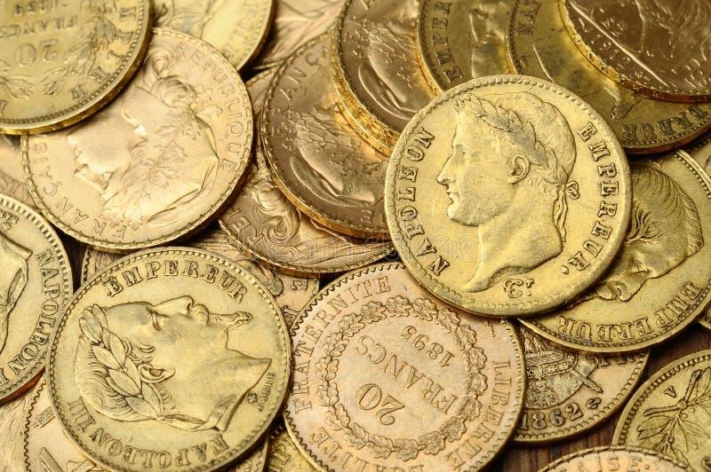 Złocista francuz moneta, Napoleon obraz royalty free