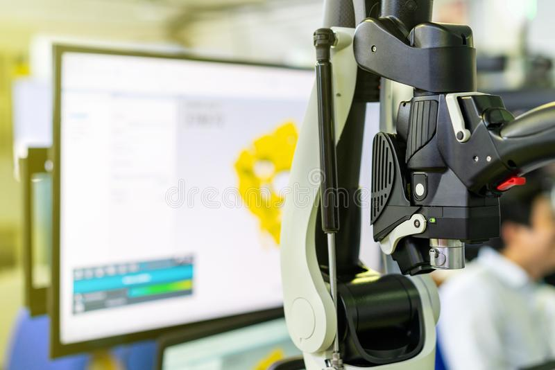 Zakończenie w górę armatniego obrazu cyfrowego lub ręczny automatyczny 3d laserowy obraz cyfrowy nowoczesna technologia, nowożytn zdjęcie stock