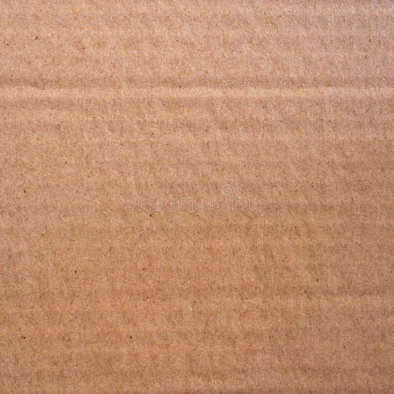 Zakończenie w górę brązu przetwarza kartonową papierowego pudełka teksturę i backgroun fotografia stock