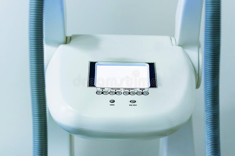 Zakończenie w górę kontrolnej deski częstotliwość radiowa udźwigu masażu konsola zdjęcie royalty free