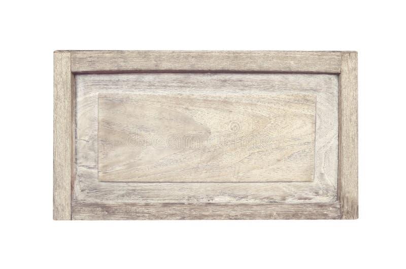Zakończenie w górę pustej starej drewno znaka tekstury w naturalnych wzorach odizolowywających na białym tle z ścinek ścieżką zdjęcia royalty free