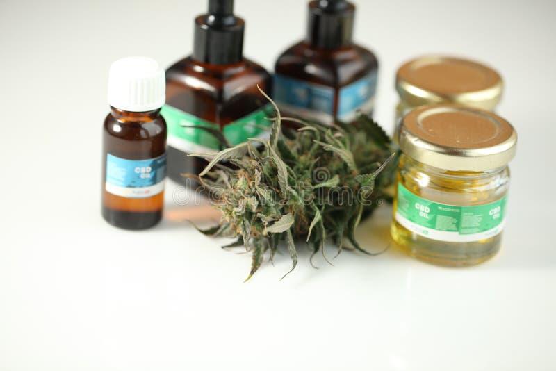 Zakończenie w górę rekreacyjnej marihuany medycznej marihuany oliwi cbd zdjęcie royalty free
