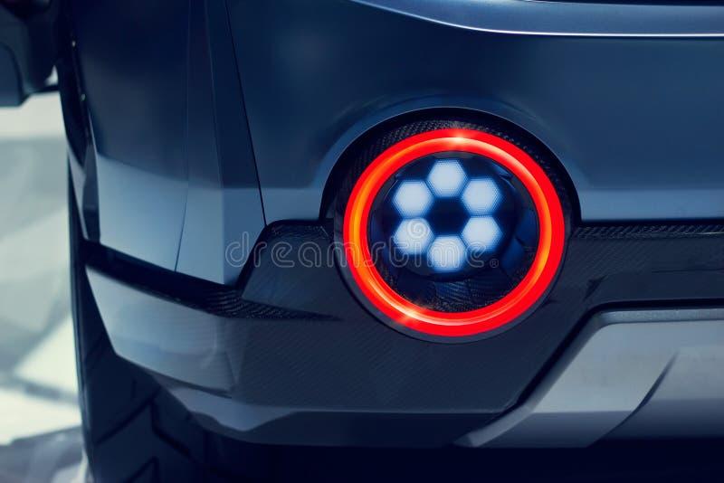 Zakończenie widok nowożytnego projekta sportów samochodu tylni światło zdjęcia stock