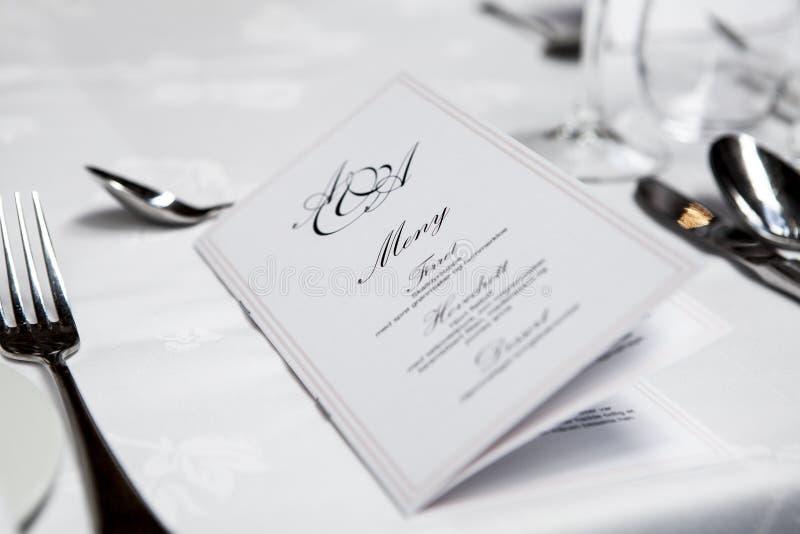 Zakończenie menu fotografia royalty free