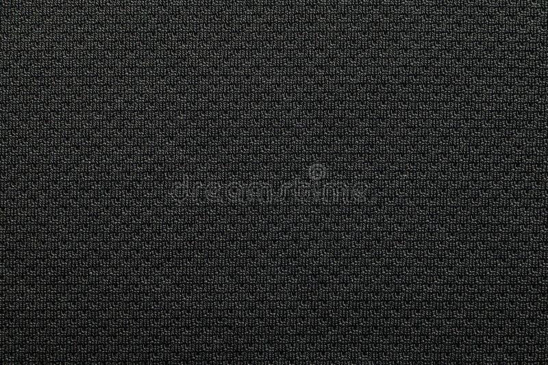 Zako?czenie tkaniny poliestrowa tekstura czarna sportowa koszula obrazy royalty free