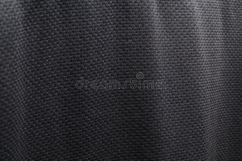 Zako?czenie tkaniny poliestrowa tekstura czarna sportowa koszula zdjęcie royalty free