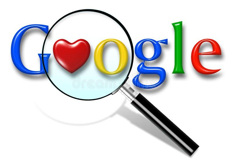 Zako?czenie w g?r? Google rewizji homepage i kursoru na parawanowym Google jest ?wiatami ilustracja wektor