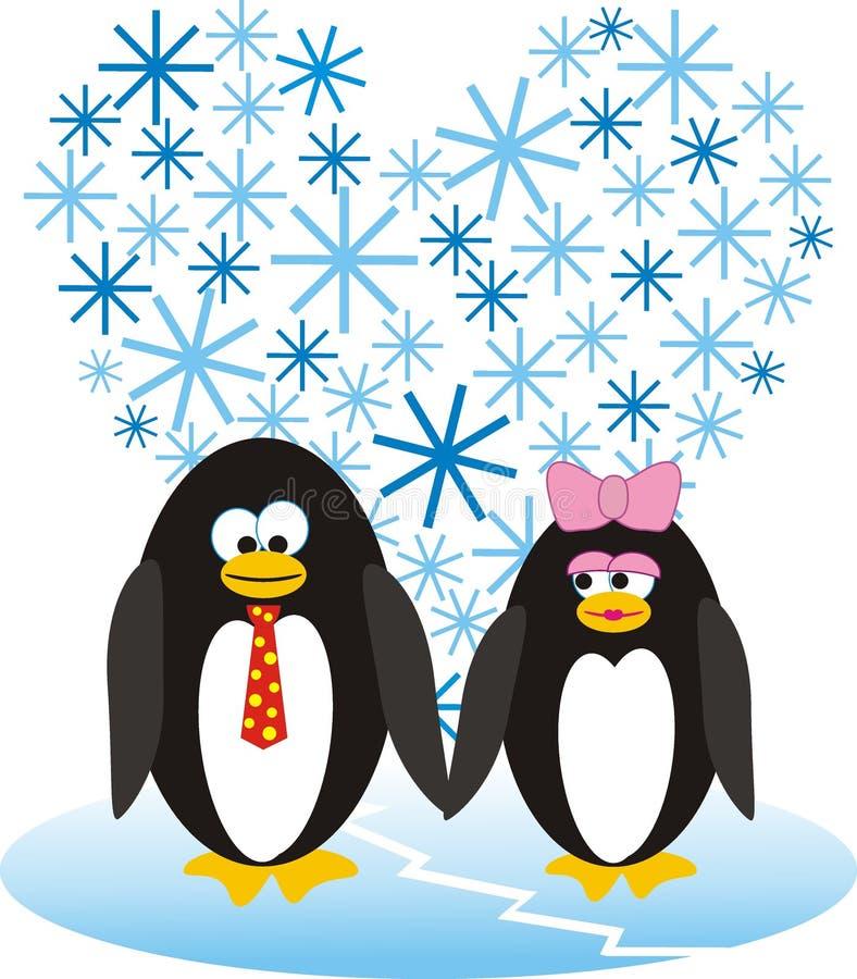 zakochani pingwiny zdjęcia royalty free