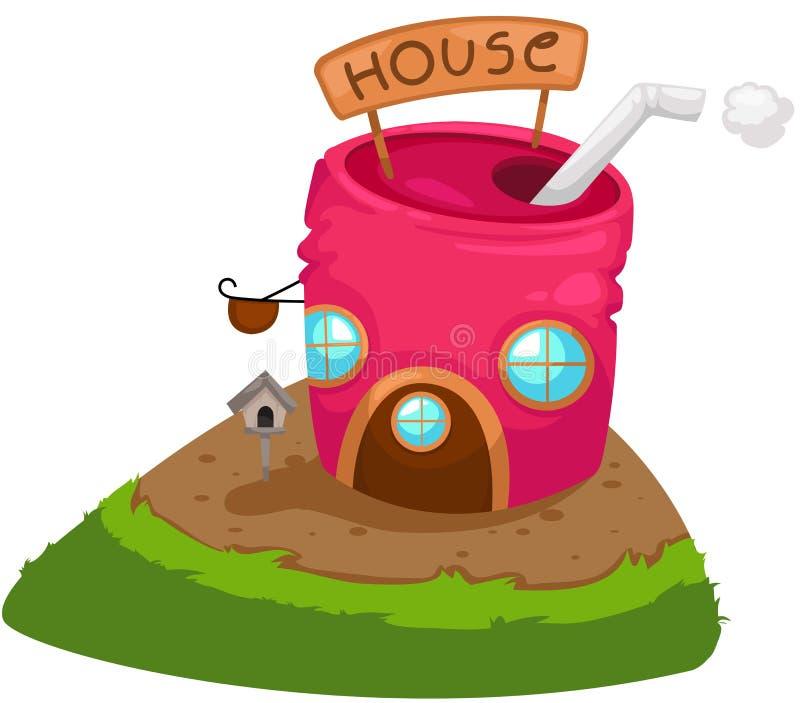 zakonserwowany dom ilustracji