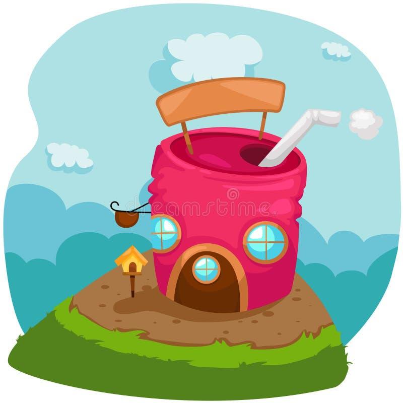 zakonserwowany dom ilustracja wektor