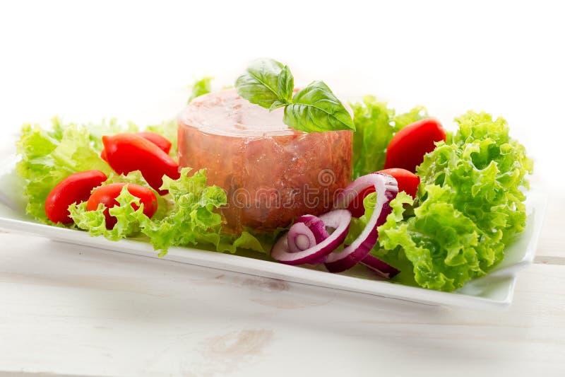 zakonserwowany mięsna sałatka zdjęcia royalty free