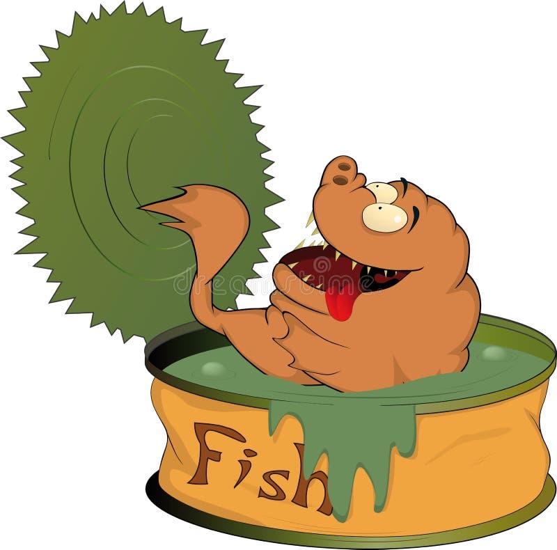 zakonserwowany rybi jedzenie ilustracji