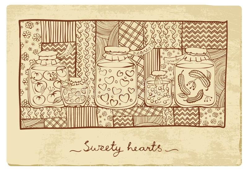 zakonserwowany serca royalty ilustracja