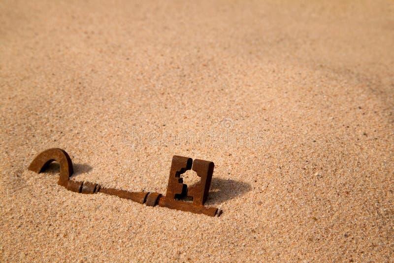 zakopujący klucz zdjęcia stock