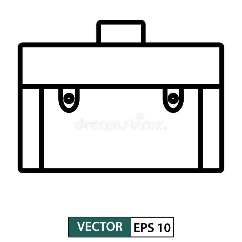 Zakpictogram, symbool, vlak die ontwerp op wit wordt geïsoleerd Vector illustratie Eps 10 vector illustratie