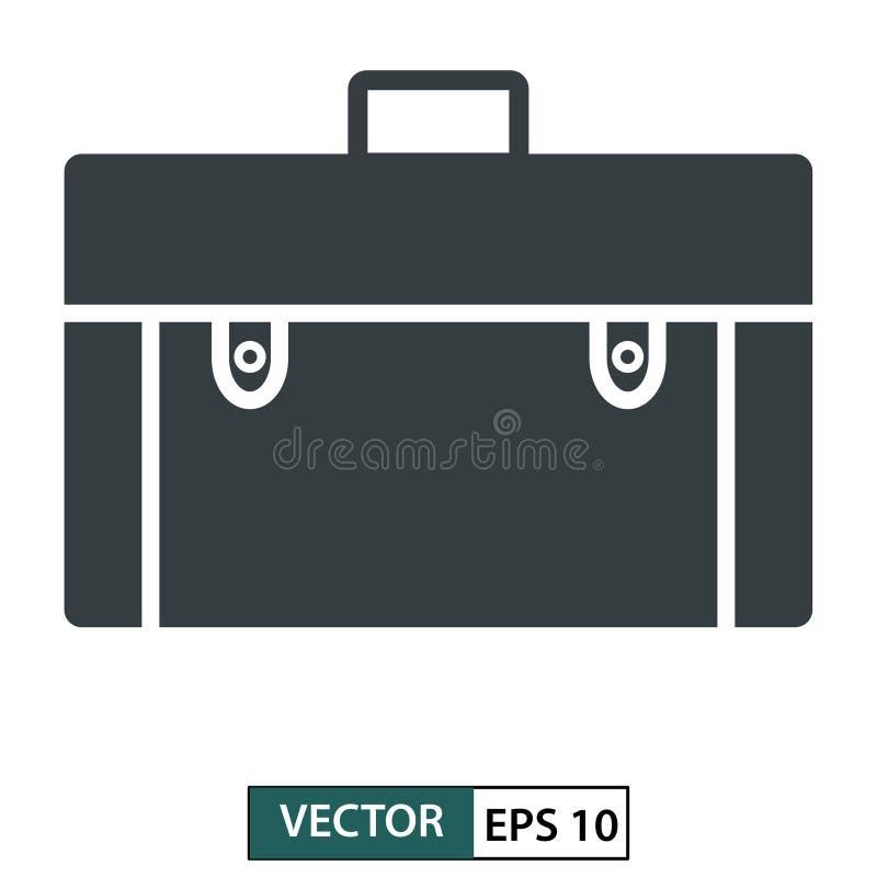 Zakpictogram, symbool, vlak die ontwerp op wit wordt geïsoleerd Vector illustratie Eps 10 stock illustratie