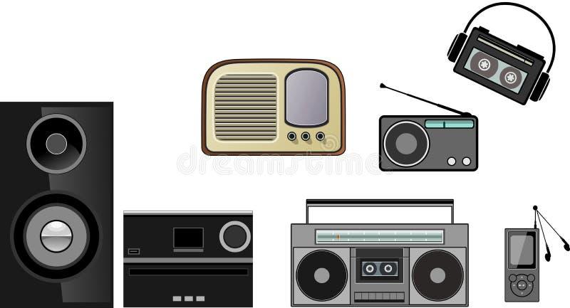 Zakradio, stereo, Hifi, mp3-speler royalty-vrije stock afbeelding