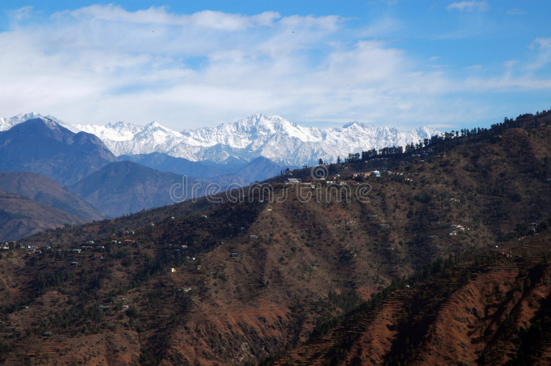 zakres himalajski zdjęcie stock