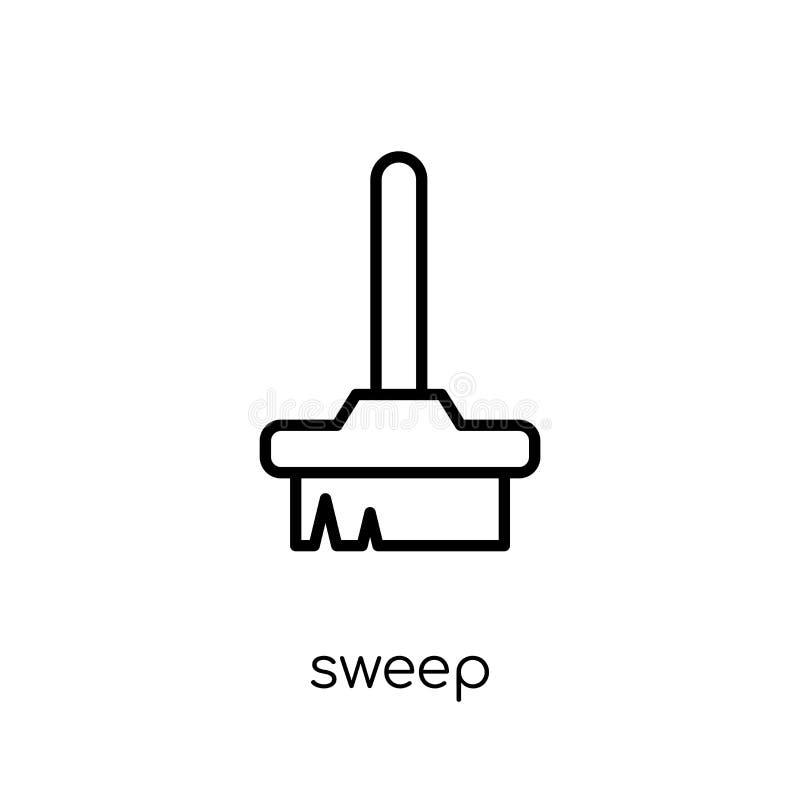 Zakres ikona Modna nowożytna płaska liniowa wektorowa zakres ikona na bielu royalty ilustracja