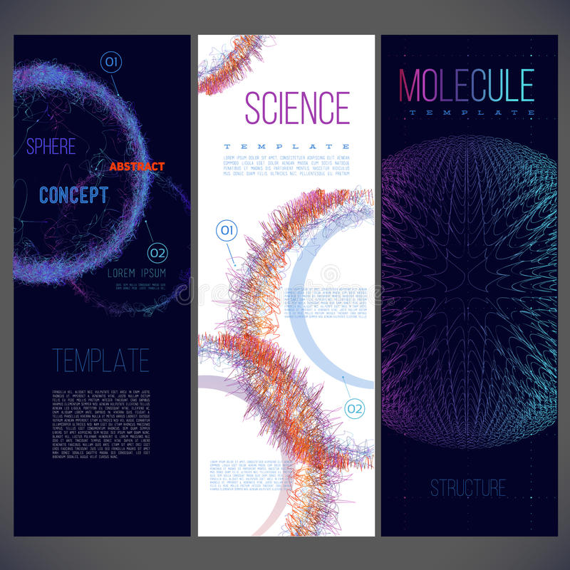 Zakresu składać się z linie różny kolor, molekuły, wirusy ilustracja wektor