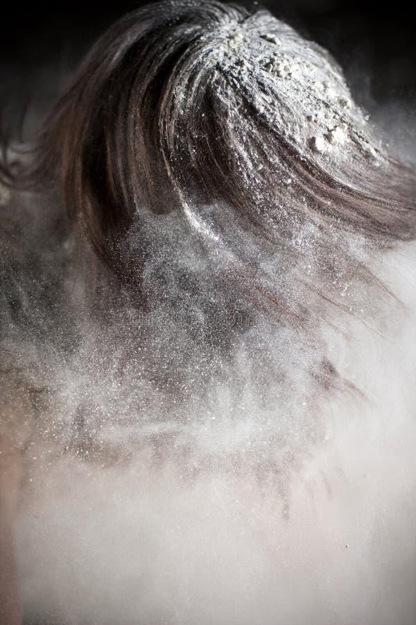 zakrywająca mąka obraz stock