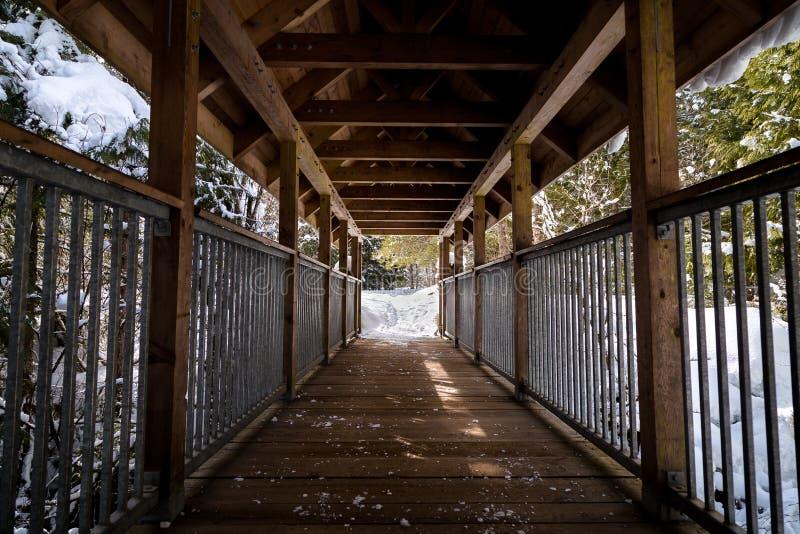 Zakrywający drewniany most przy Brandywine Spada prowincjonału park obraz stock