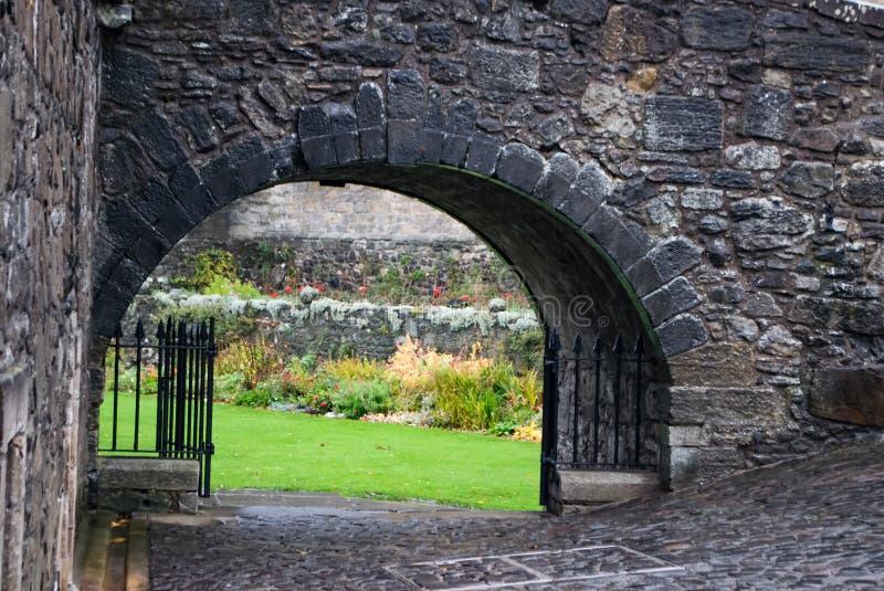 Zakrywający przejście przy Stirling kasztelem Szkocja zdjęcia royalty free