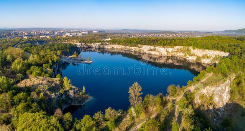 Zakrzowek lake in Krakow, Poland royalty free stock image