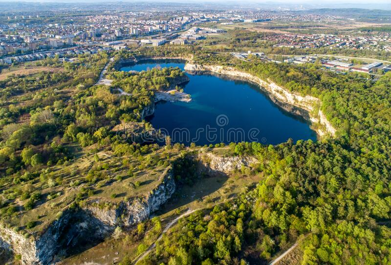 Zakrzowek lake in Krakow, Poland royalty free stock photography
