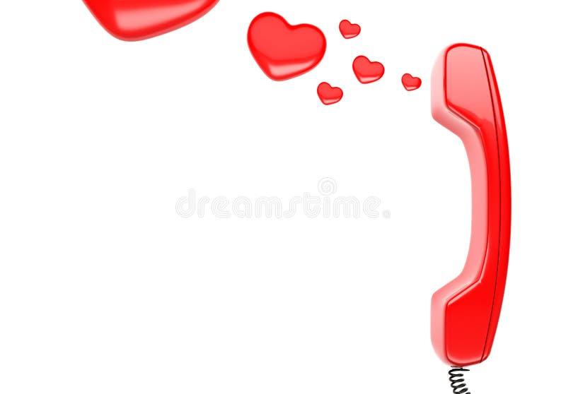Zaktelefoon en hart stock illustratie