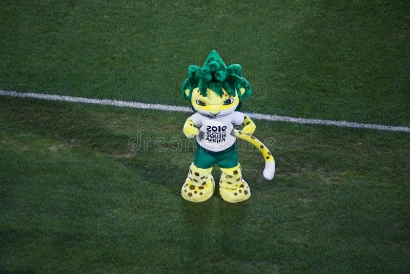 Zakumi - de Zuidafrikaanse Mascotte van 2010 royalty-vrije stock foto