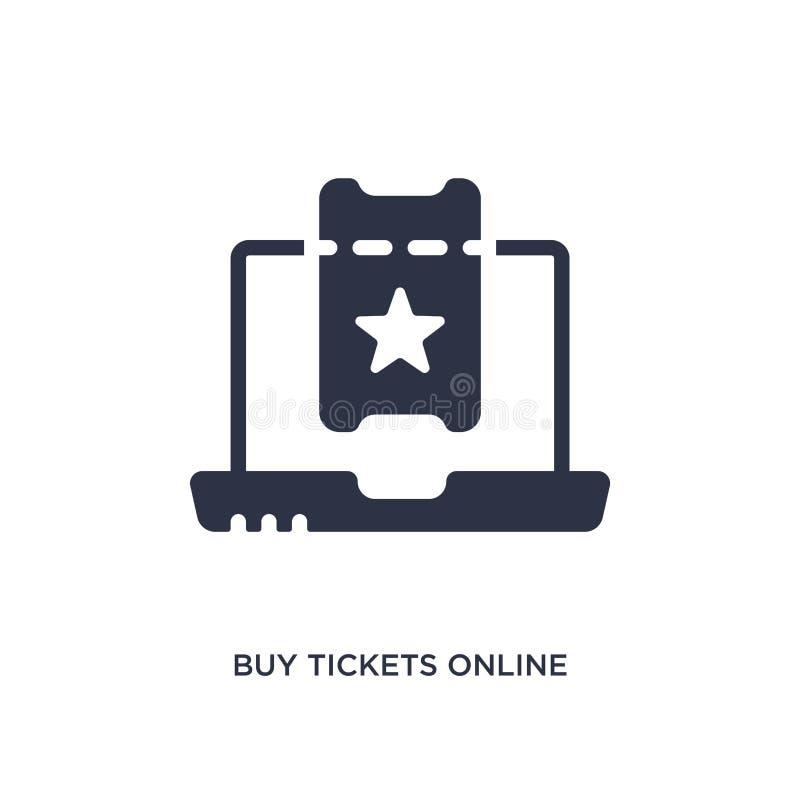 zakupów biletów online ikona na białym tle Prosta element ilustracja od Kinowego pojęcia ilustracja wektor