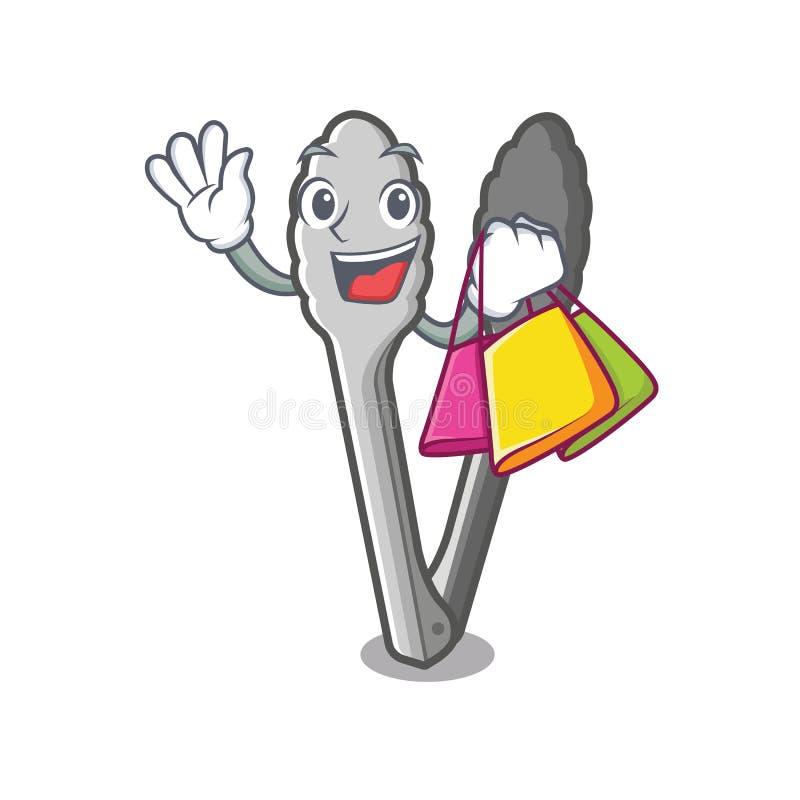Zakupów tongs w kreskówka kształcie royalty ilustracja