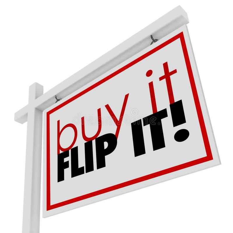 Zakup Ja trzepnięcie Ja Formułuje Do domu dom dla sprzedaży Real Estate znaka ilustracji