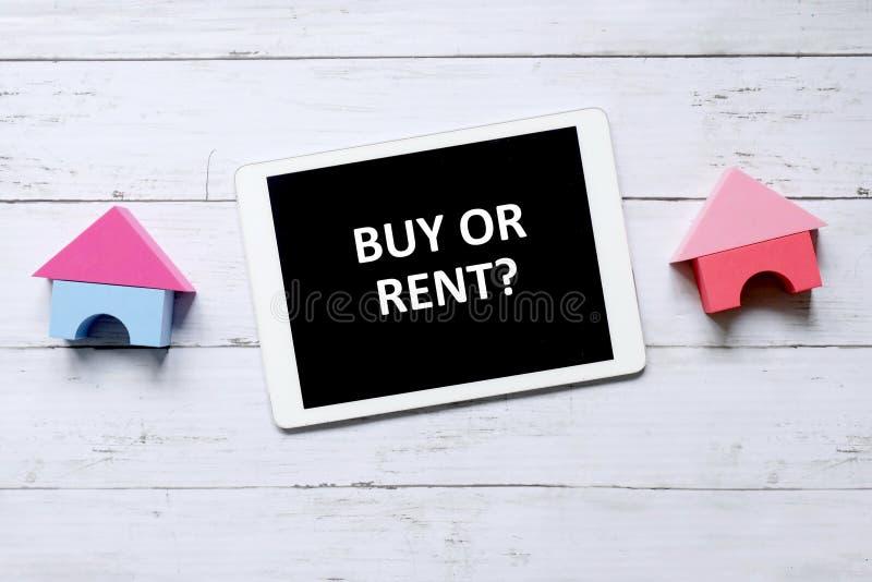 Zakup lub czynsz? zdjęcie stock