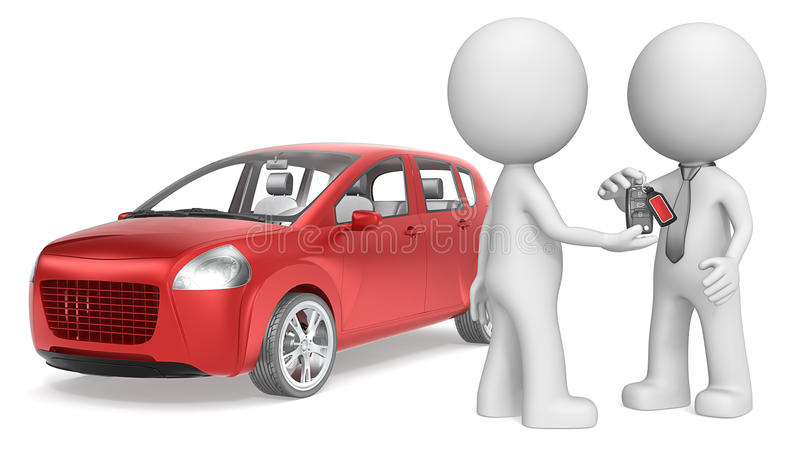 zakup samochodu ilustracji