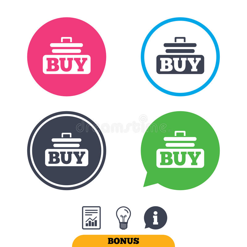 Zakup szyldowa ikona Online kupienie fury guzik ilustracja wektor