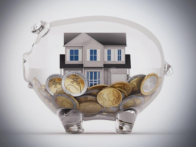 Zakupu dom z savings zdjęcia stock