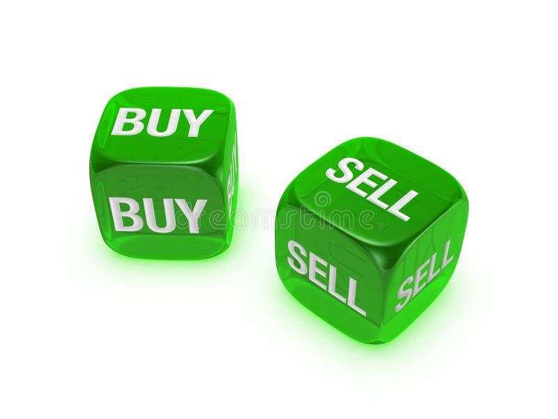 zakupu kostka do gry zieleni pary bubla znak półprzezroczysty zdjęcie stock