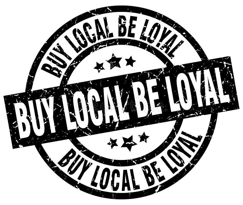 zakupu miejscowy był lojalnym round grunge znaczkiem ilustracji