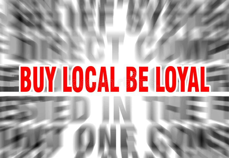 zakupu miejscowy by? lojalny ilustracji