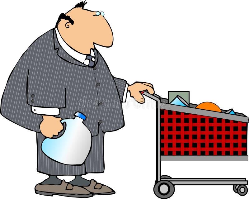 zakupy biznesmena ilustracja wektor