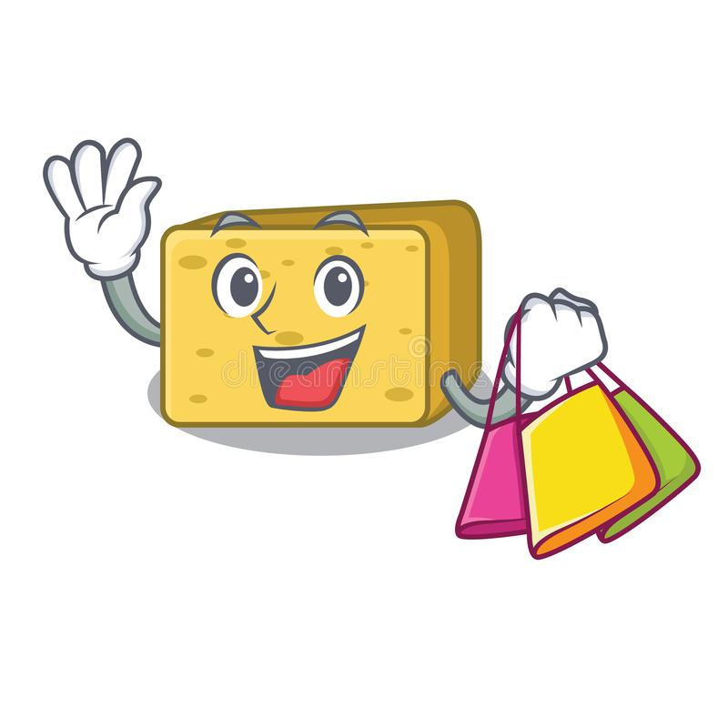 Zakupy charakteru gouda świeży ser ilustracji