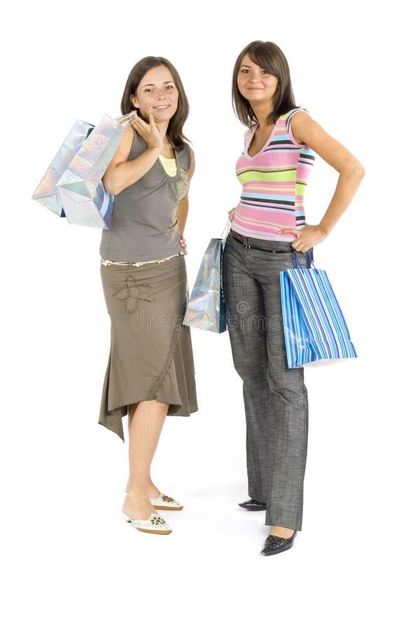 zakupy dwie kobiety. obrazy stock