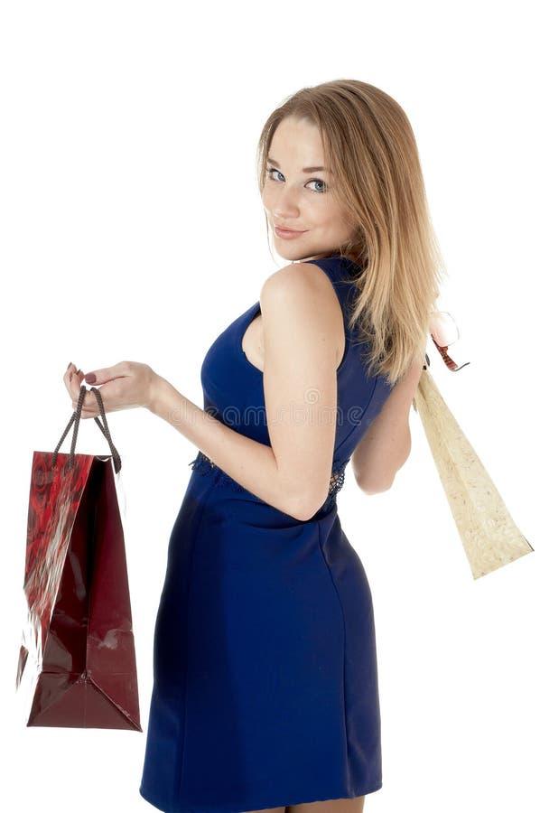 Zakupy dziewczyna zdjęcia royalty free