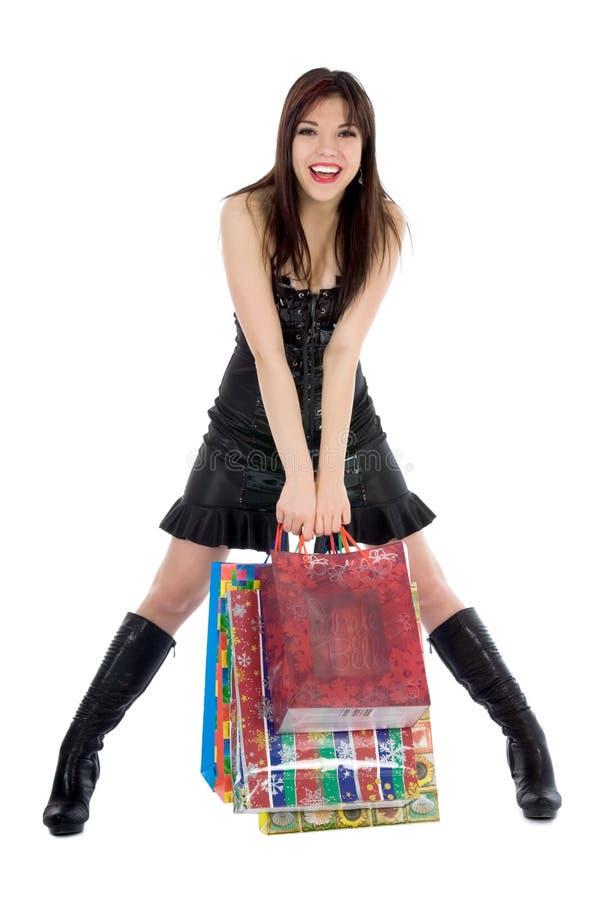 zakupy ekspresyjna kobieta zdjęcie royalty free